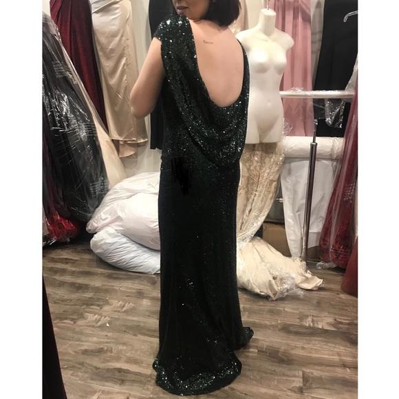 Emerald Sequin Prom Dress